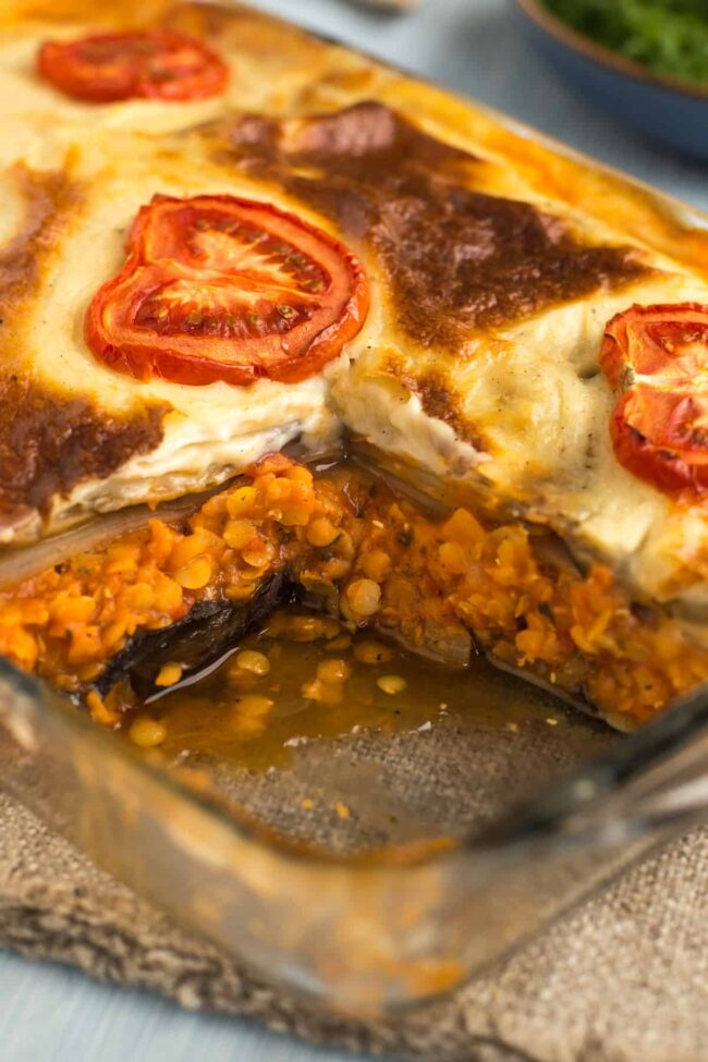 Vegetarian Moussaka Easy Cheesy Vegetarian