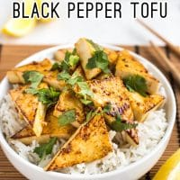 Spicy lemon and black pepper tofu