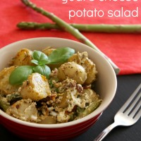 Asparagus and goat's cheese potato salad