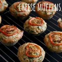 Spinach and goat's cheese muffins