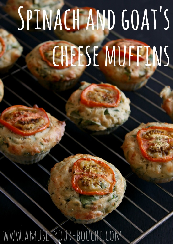 Spinach and goat cheese muffins
