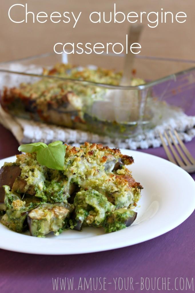 Cheesy aubergine casserole