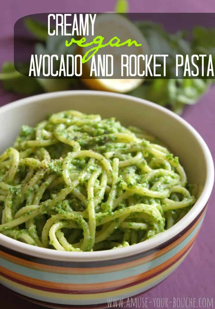 Creamy avocado and rocket pasta