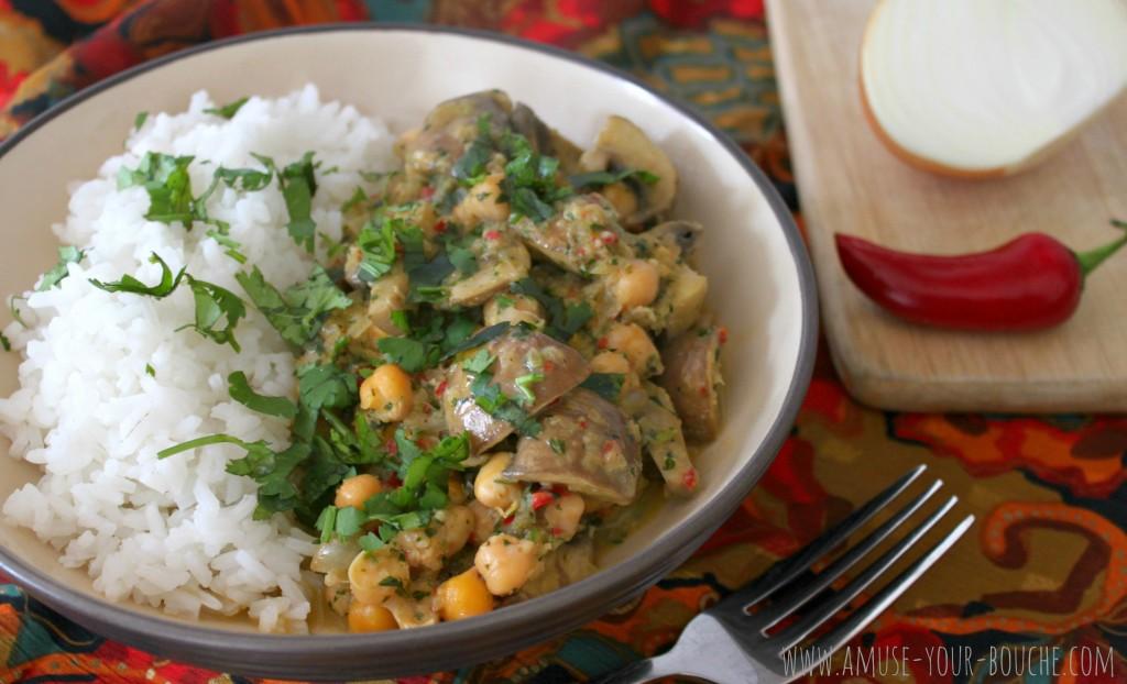 Creamy mushroom and chickpea curry 7