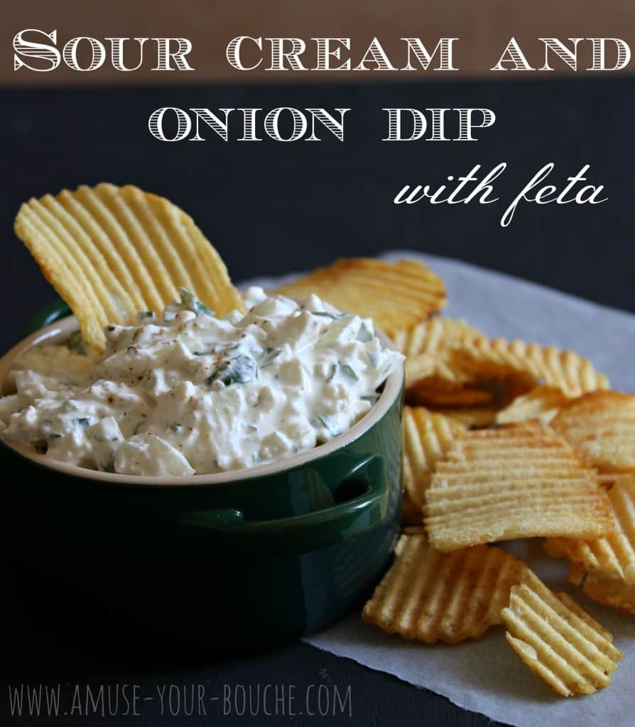 Sour cream and onion dip with feta