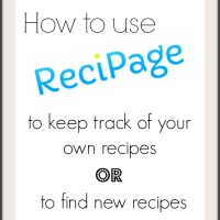 How to use Recipage