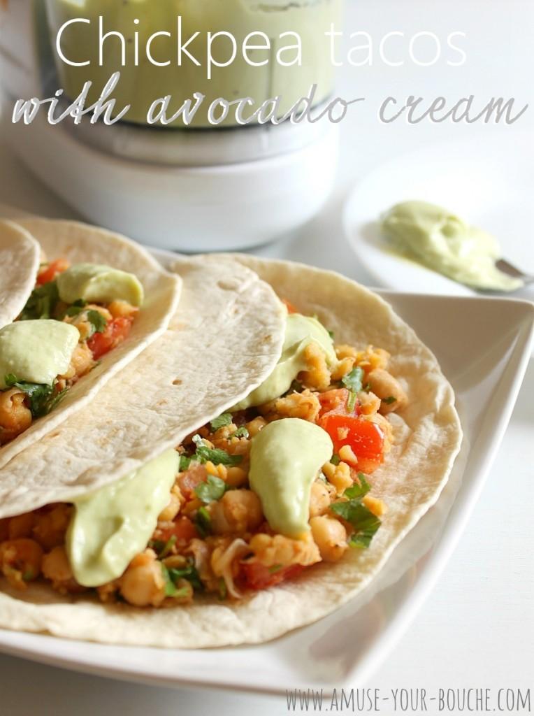Chickpea tacos with avocado cream [Amuse Your Bouche]