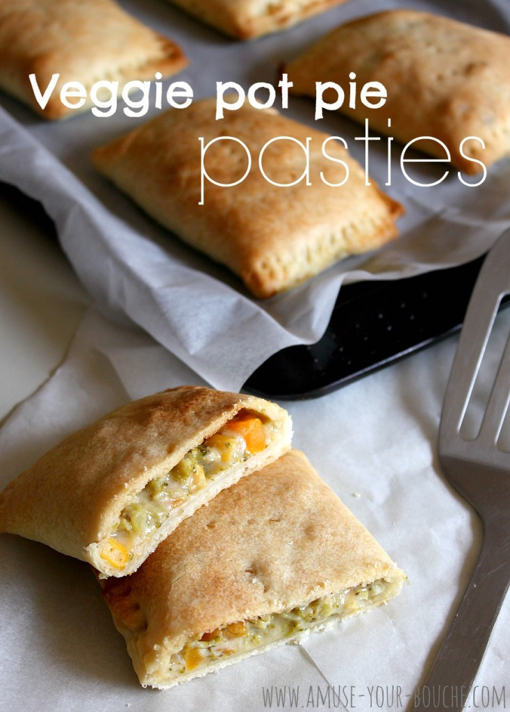 Veggie pot pie pasties