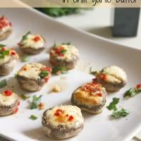 Boursin stuffed mushrooms in chilli garlic butter