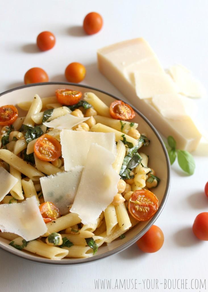 Deconstructed pesto pasta
