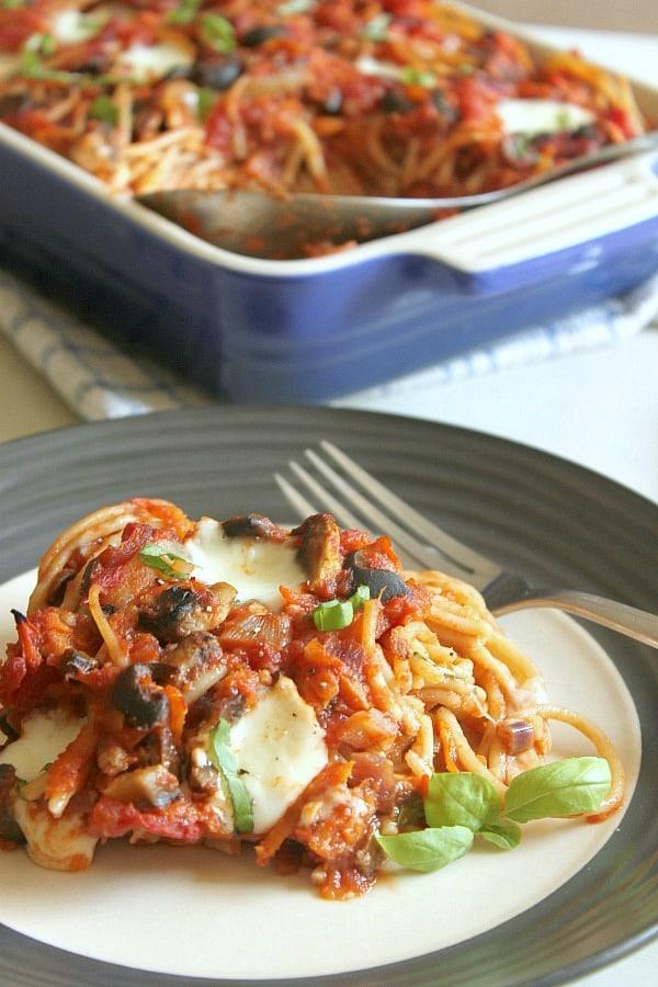 Spaghetti and meatballs casserole [Amuse Your Bouche]