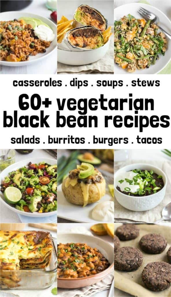 60+ vegetarian black bean recipes - including casseroles, dips, soups, stews, and loads more!