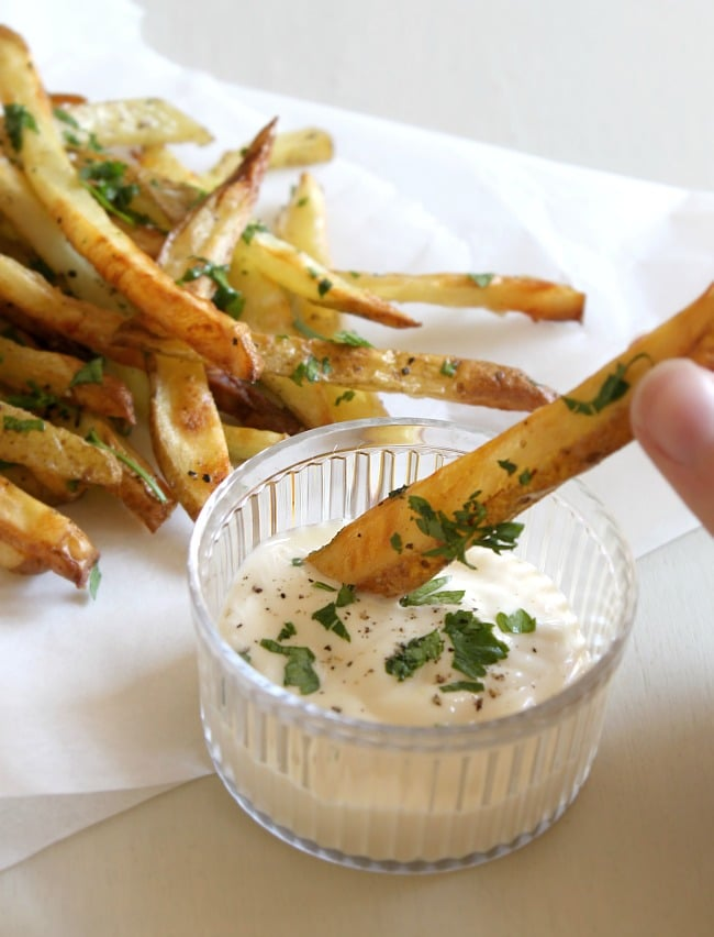 Garlic and parsley fries [Amuse Your Bouche]