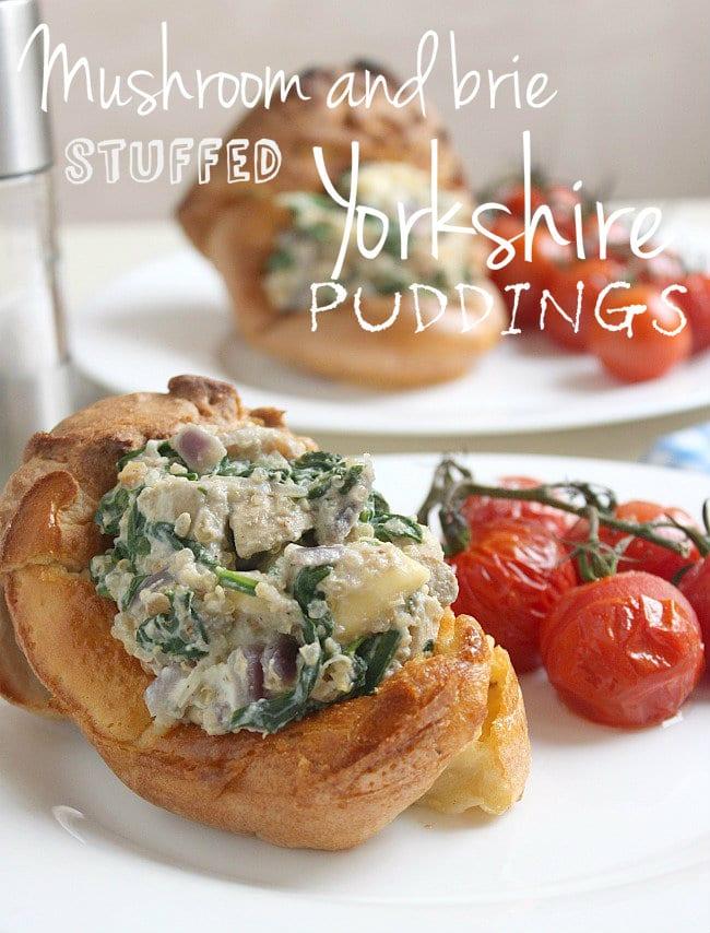 Mushroom and brie stuffed Yorkshire puddings
