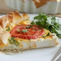 Ricotta and tomato tart