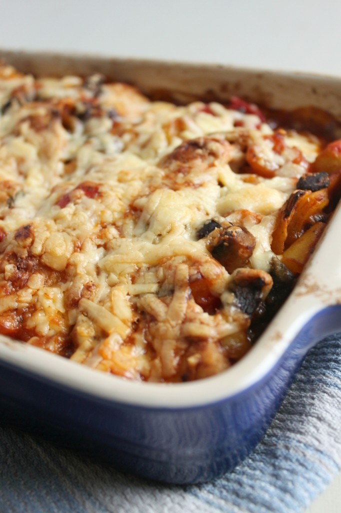 Roasted vegetable enchilada casserole
