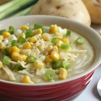 Slow cooker loaded baked potato soup