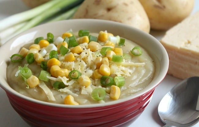 Slow cooker loaded baked potato soup - Amuse Your Bouche