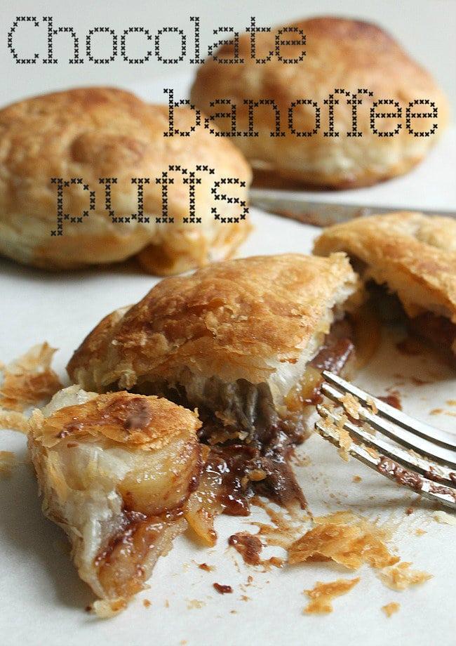 Chocolate banoffee puffs