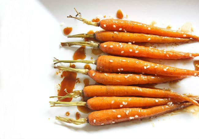 Honey soy glazed carrots