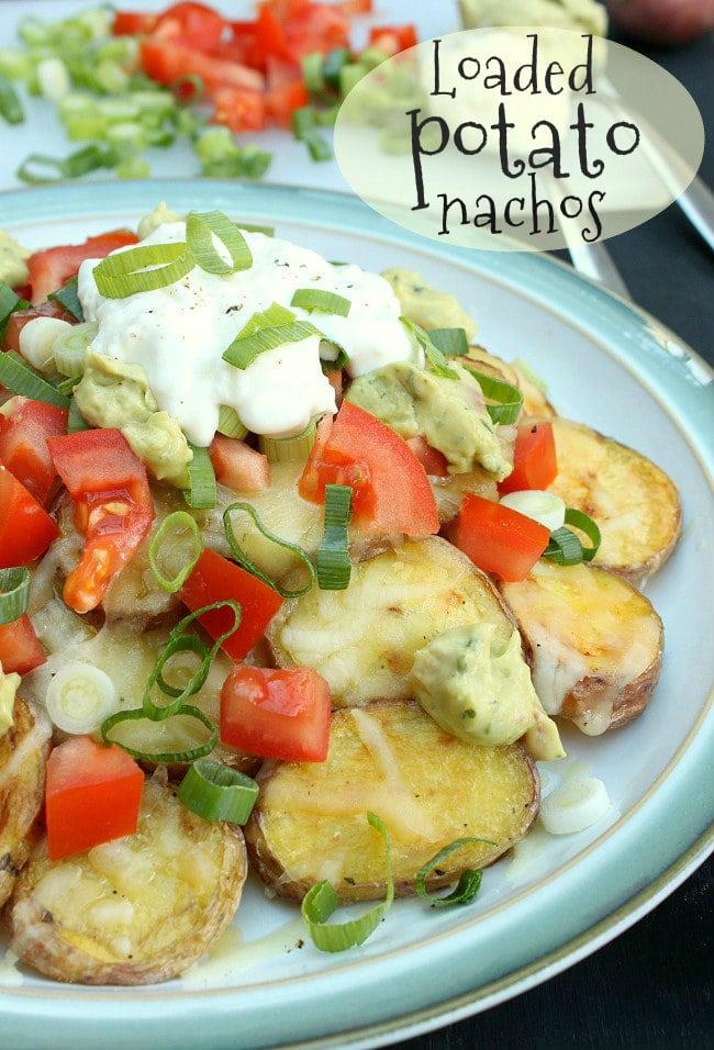 Loaded potato nachos
