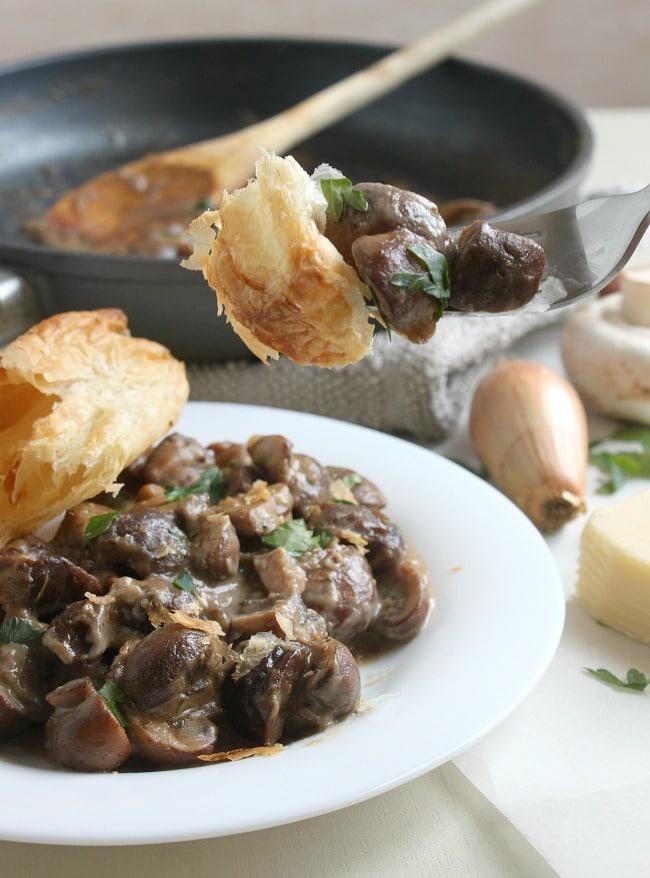 Mushroom and chestnut pie
