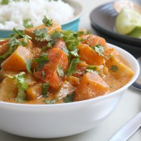 Winter vegetable red Thai curry (+ a new feature of Amuse Your Bouche!)