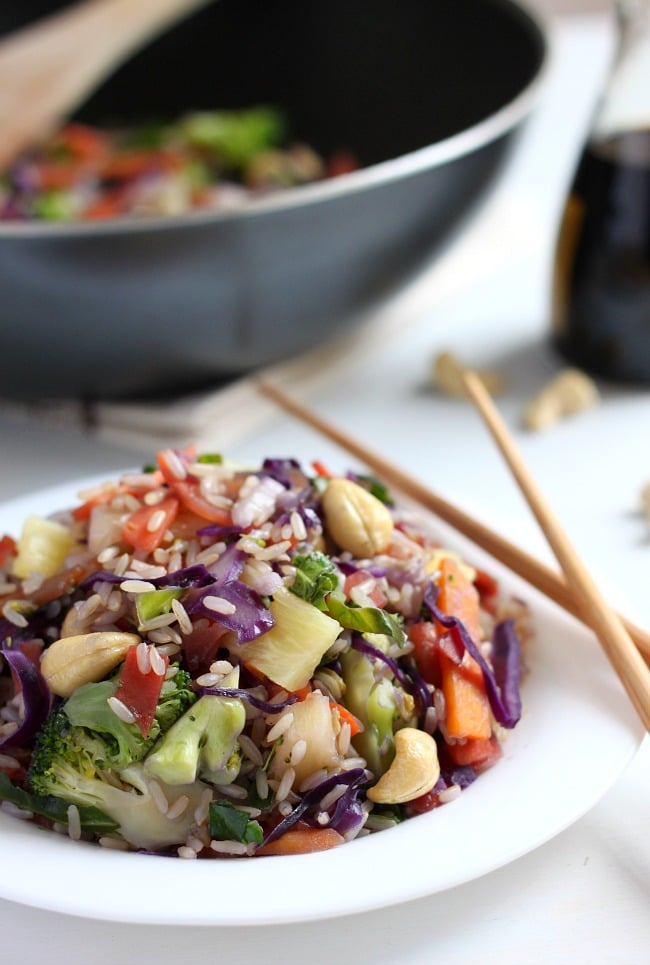 Pineapple and cashew stir fry