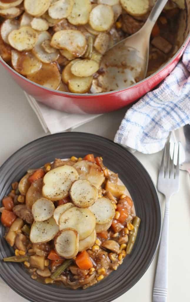 Vegetarian sausage hotpot 3