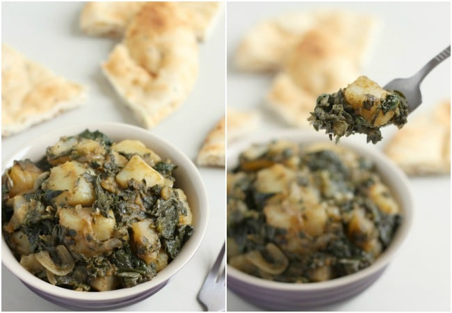 Easy slow cooker saag aloo