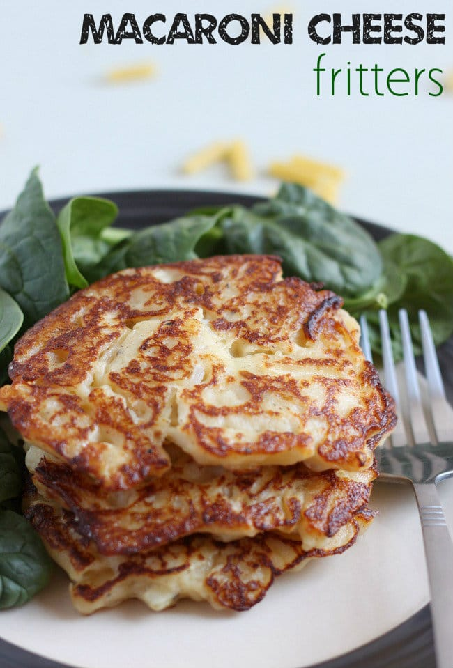 Macaroni cheese fritters