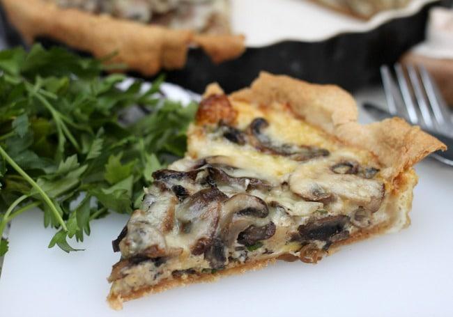 Mushroom and gruyère tart