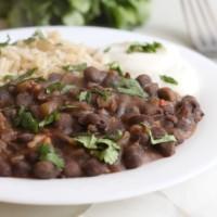 Restaurant-style black beans