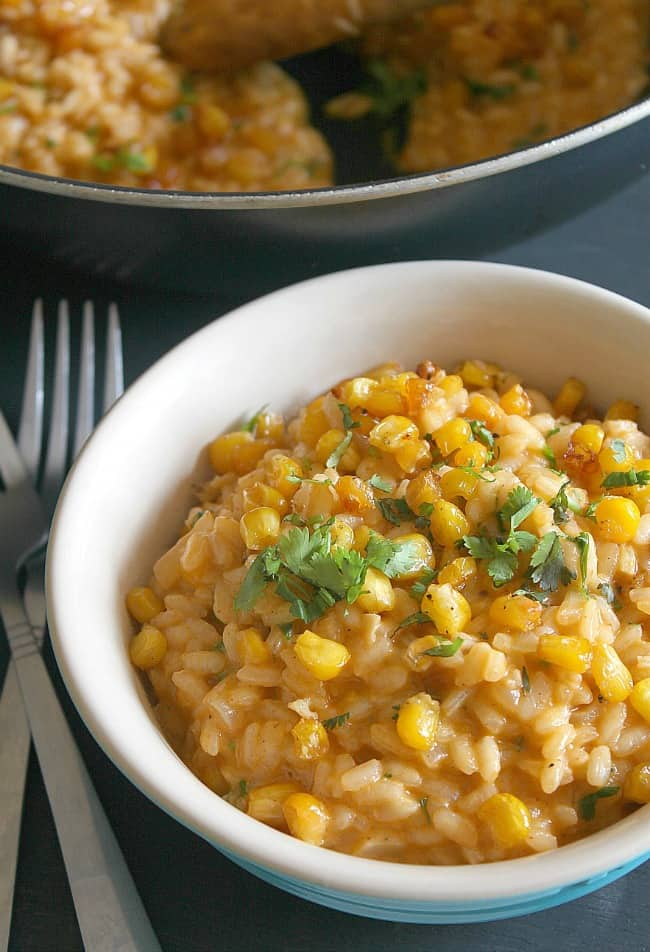 Roasted corn risotto with smoked paprika / amuse-your-bouche.com