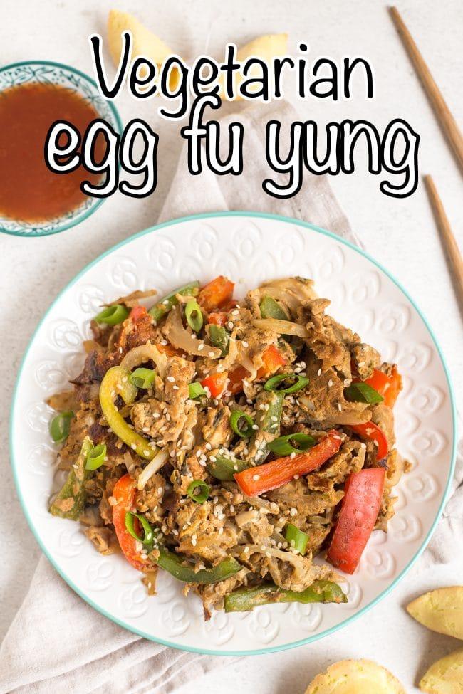 Vegetarian egg fu yung