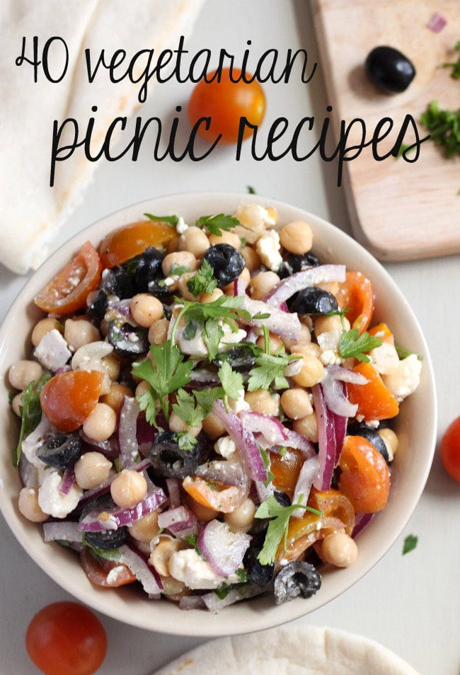 40 Vegetarian Picnic Recipes Easy Cheesy Vegetarian