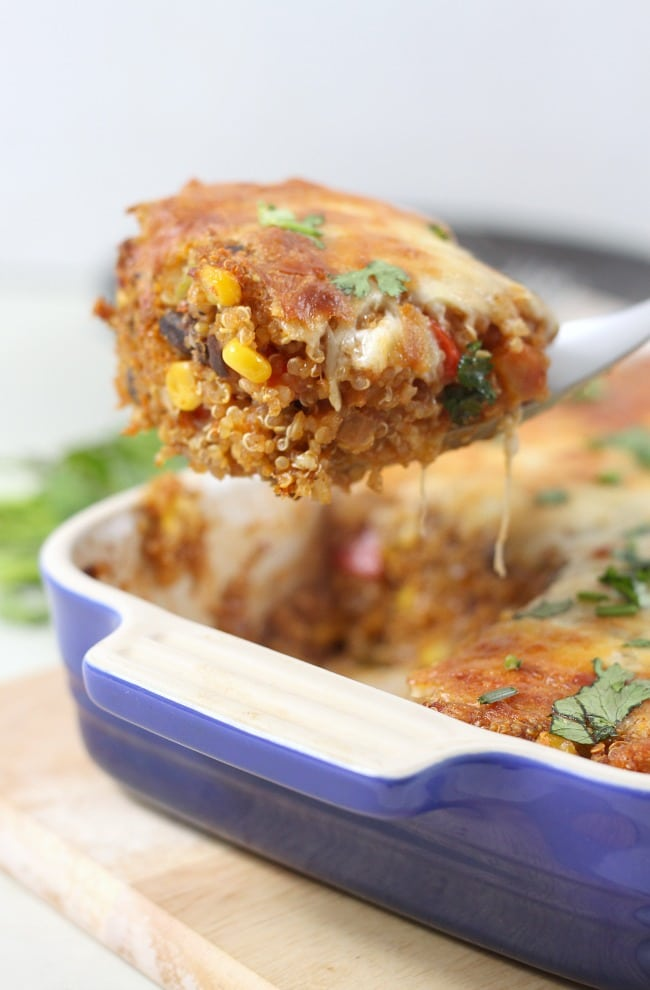Mexican quinoa bake - even meat-eaters LOVE this vegetarian recipe!