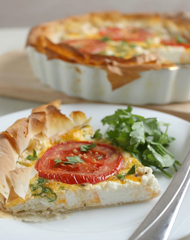 Ricotta and tomato tart