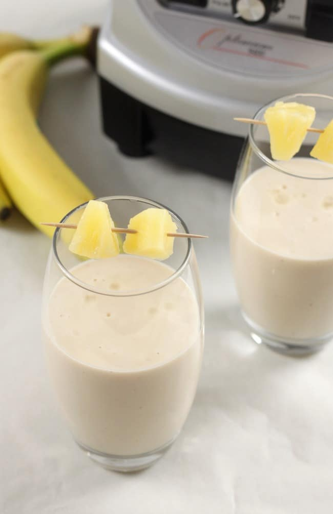 Coconut pineapple banana smoothie - tastes like the Caribbean!!
