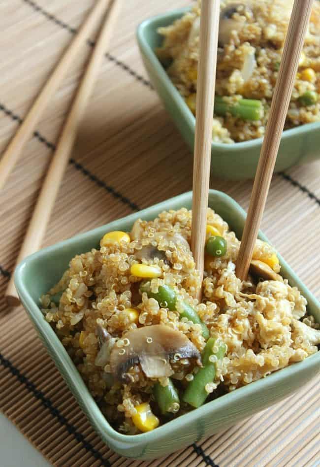 Quinoa egg fried rice