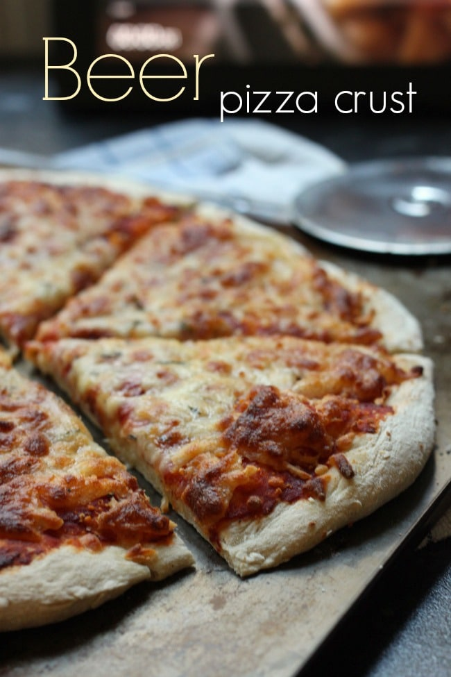 Beer pizza crust - an easy recipe for perfect thin crust pizzas!