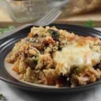 Creamy portobello and kale quinoa bake (giveaway!)