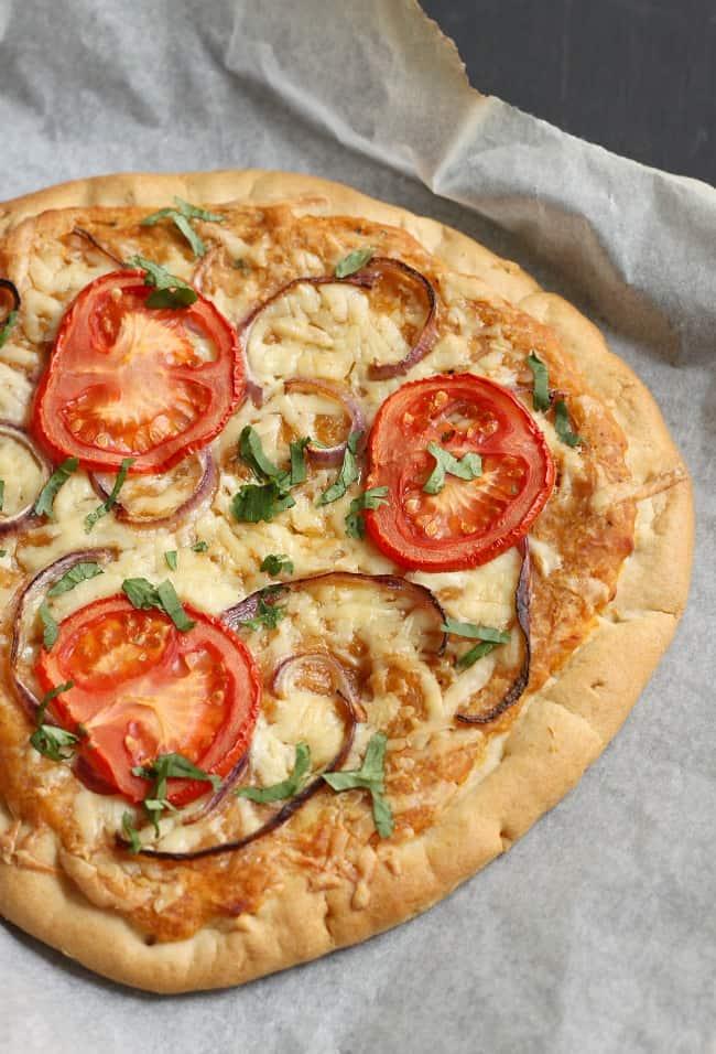 Lentil pizza
