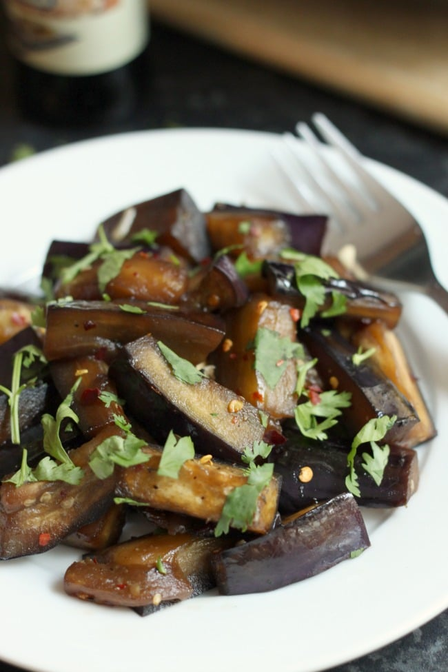 Sticky honey soy aubergine - the flavours in this dish are RIDICULOUS