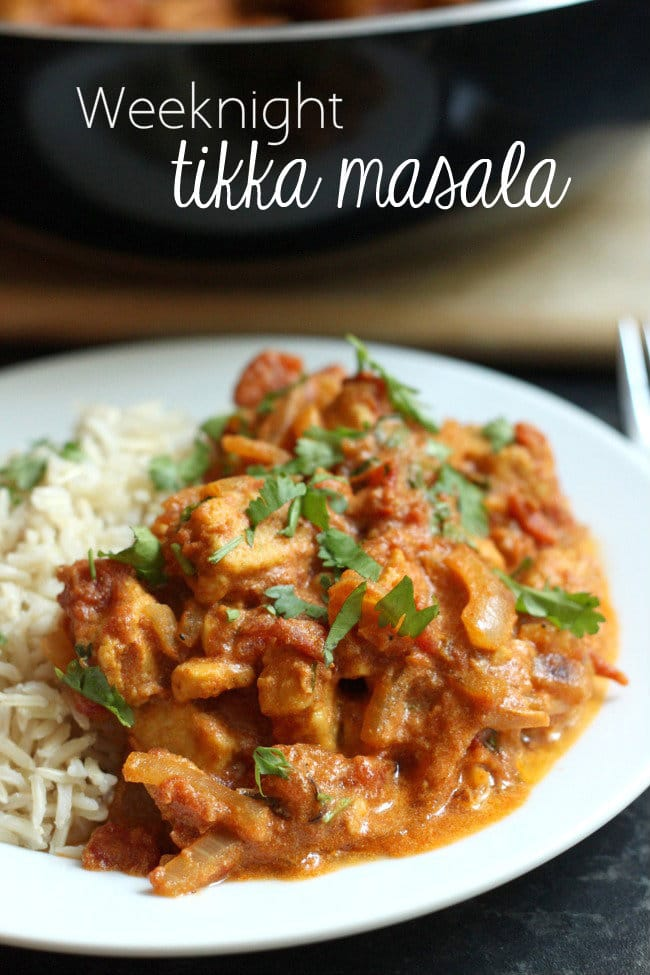 Weeknight tikka masala - only takes 20 minutes!!!