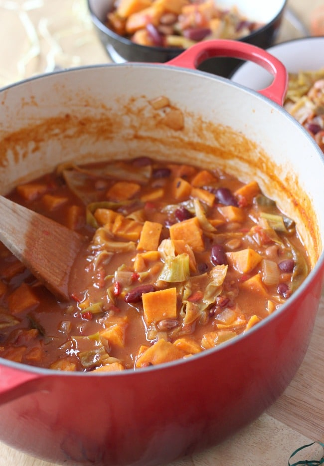 Caribbean-style sweet potato stew! This stew is so flavourful - perfectly sweet and spicy