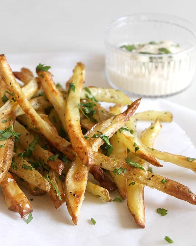 Garlic and parsley fries