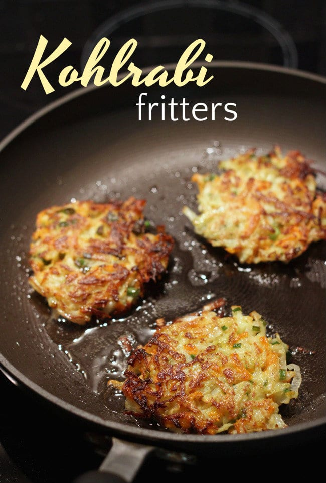 Kohlrabi carrot fritters - a really easy way to us