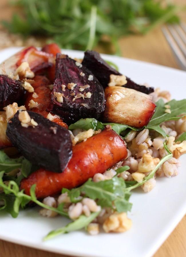 Pearl barley roasted beetroot salad