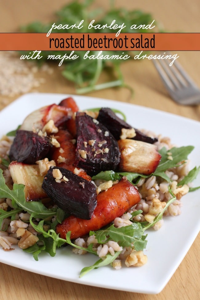 Pearl barley roasted beetroot salad